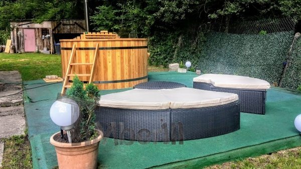 Hot tub project France exterior view