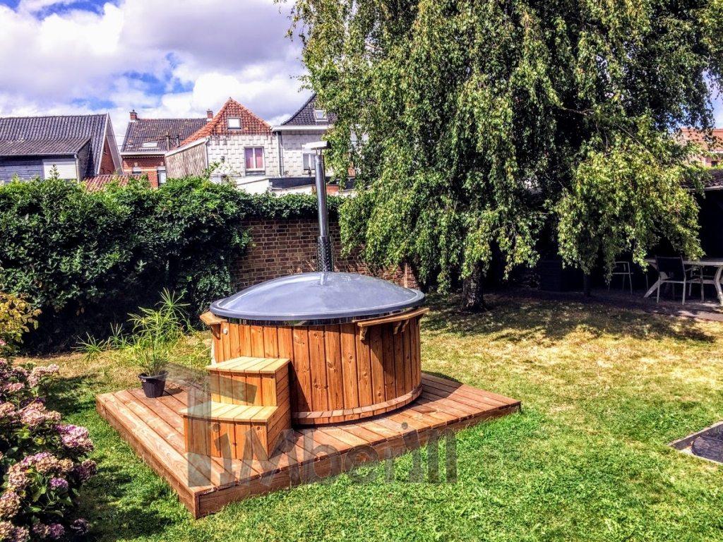 Outdoor hot tub fiberglass