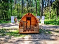 Outdoor sauna iglu design red cedar (3)