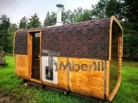 Rectangular outdoor garden sauna (1)