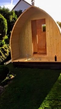 DIY outdoor sauna - installing the front doors
