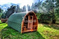 Garden wooden sauna iglu design