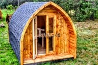 Outdoor wooden glamping camping pod for sale