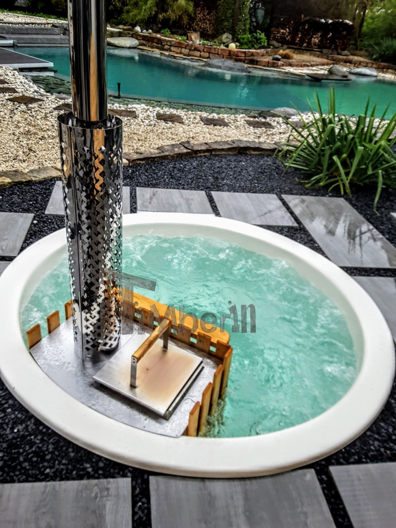 Sunken Built In Patio Hot Tub Jacuzzi Terrace Model (4)