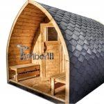 Outdoor garden wooden sauna Iglu design