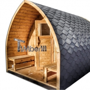 Outdoor garden wooden sauna Iglu design