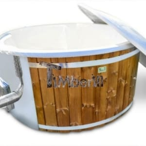 Wood fired hot tub for sale Wellness royal fiberglass model