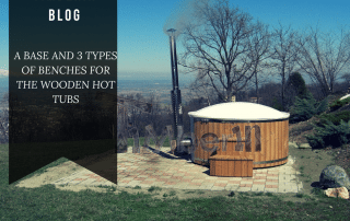 a base and 3 types of benches for wooden hot tubs