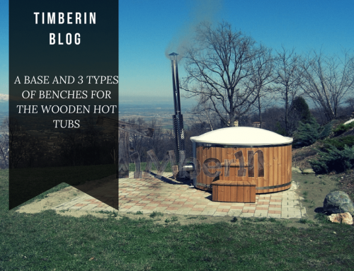 A BASE AND 3 TYPES OF BENCHES FOR THE WOODEN HOT TUBS