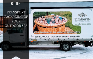 TRANSPORT PACKAGING OF YOUR OUTDOOR SPA Timberin 1