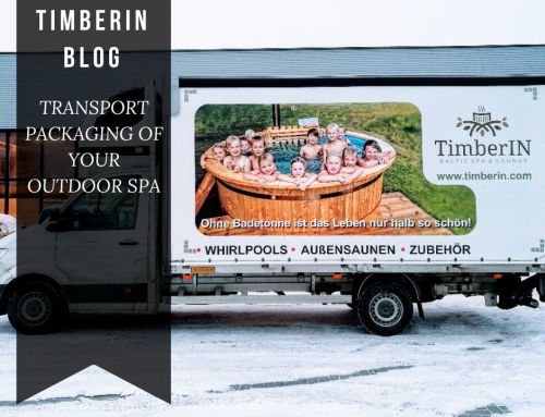 TRANSPORT PACKAGING OF YOUR OUTDOOR SPA